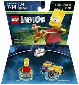 LEGO-Dimensions-The-Simpsons-Bart-Fun-Pack-71211-Gravity-Sprinter-34-pcs-NIB