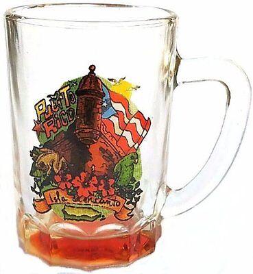 LOT OF 6 ASSORTED Puerto Rico Flag Souvenirs Mini Mug Shot Glass Rican 3oz