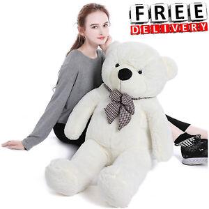Giant-Plush-Teddy-Bear-39-034-Stuffed-Animal-Soft-Toy-Huge-Large-Jumbo-Gift-New