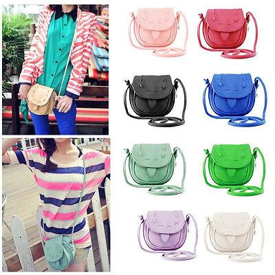 Women Girls Handbag PU Leather Shoulder Bag Tote Messenger Cross Body Bag
