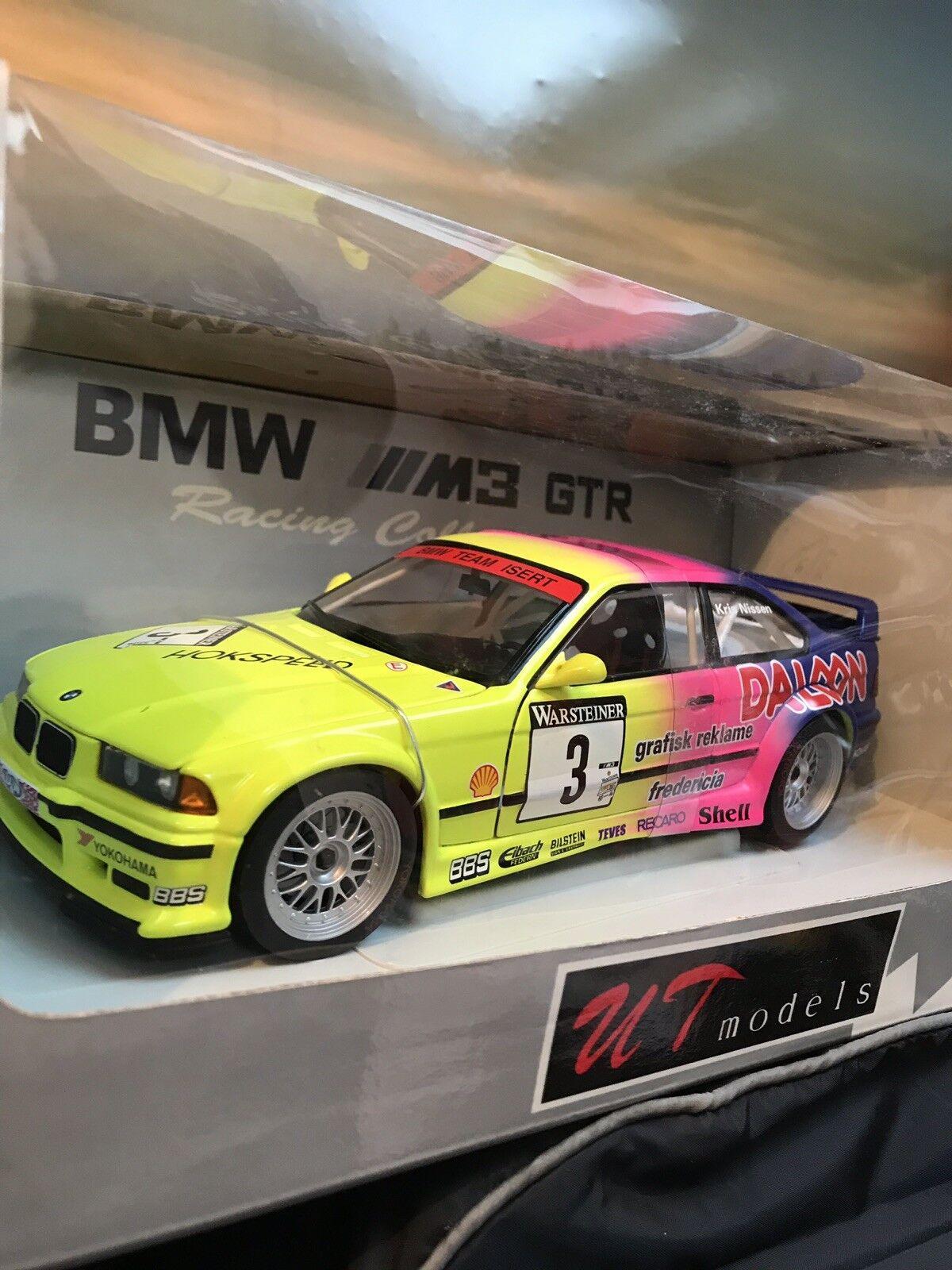 UT BMW M3 E36 GTR K Nissen échelle 1993 1 18 parfait état-jamais sortie de boîte