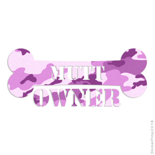 Size #1647 Mutt Owner Bone Decal Sticker Choose Pattern