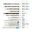 SCHMIDT-refill-inchiostro-compatibile-per-penna-a-sfera-e-roller-blu miniatura 2