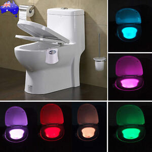 Motion activated toilet night light bowl bathroom led 8 color lamp motion activated toilet night light bowl bathroom led aloadofball Images