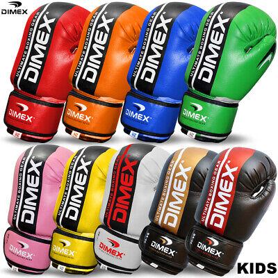 Junior Boxing Punching Bag Kids Mitts Children Sparring 6oz Inner Gel Pad Gloves