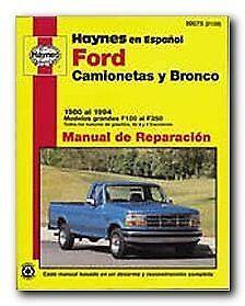 haynes ford camionetas and bronco 80 94 spanish repair manual rh ebay com