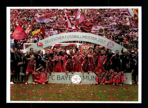 Bayern München Mannschaftskarte Deutscher Meister 2017 TOP