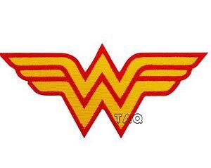 wonder woman iron on patch dc comic embroidered super hero logo rh ebay co uk superwoman logo wallpaper superwoman logo images