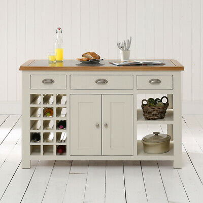 Cotswold Cream Painted Kitchen Island And Granite Top Wt33 Ebay