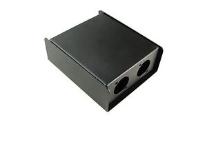 """Steel Project Box 4 1/2"""" x 3-3/4"""""""" x 1 5/8"""" Pre-Punched for 3 """"D"""" Series XLR's"""