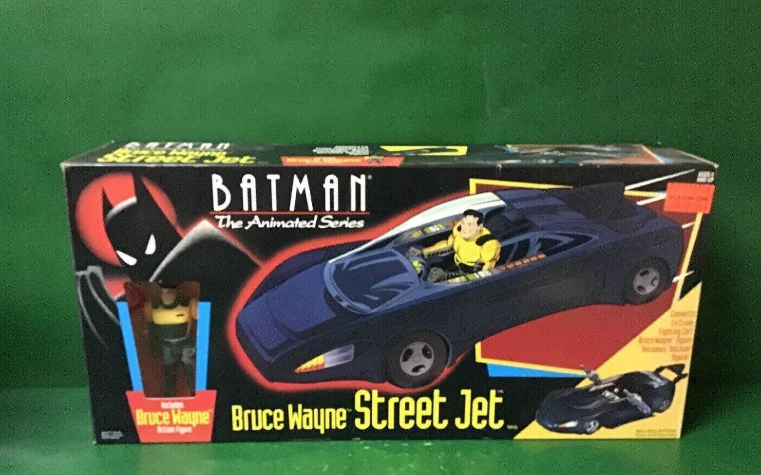 "BATMAN THE ANIMATED SERIES   BRUCE WAYNE ""STREET JET"" NIB BY KENNER"