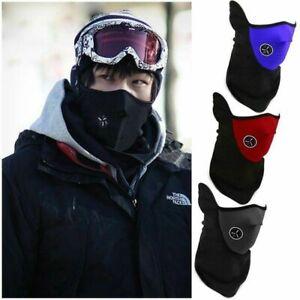 Cold Weather Half Face Mask Motorcycle Snowboard Neck Warmer Neoprene Fleece Ebay