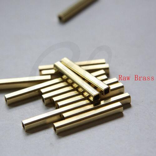 10 Pièces Raw brass tube carré 4x4x30mm avec id 2.3 mm 3298C-N-342