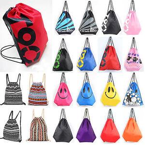Unisex-Emoji-Gym-Swim-Bag-Drawstring-School-Sports-PE-Kids-Backpack-Outdoor-Bags