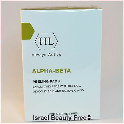 Holy Land Alpha-Beta Peeling Pads with Retinol / Glycolic acid, Salicylic Acid