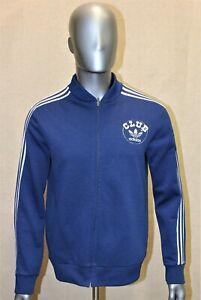 Veste survêtement ADIDAS CLUB VENTEX Vintage 70's bleu taille L made in France