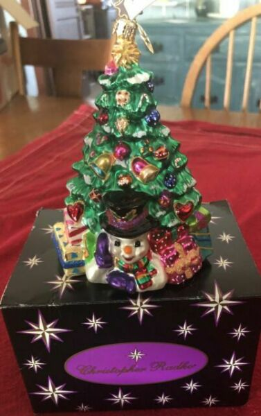 Christopher Radko Chillin Wonder Glass Ornament Snowman ...