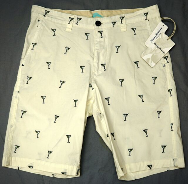 Tommy Bahama Continental Stretch Shorts Mix Master Martini Embroidery NWT $110