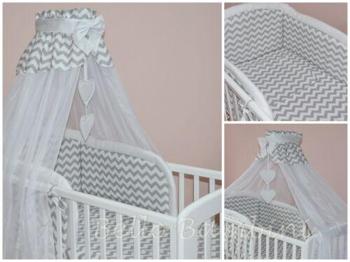 10p bébé ensemble de literie//pare-chocs//verrière//titulaire//pour lit bébé ou bébé gris chevron
