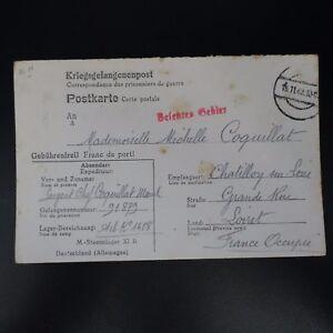 Bien Informé Lettre Prisonnier De Guerre Stalag Xi B -> ChÂtillon Kriegsgefangenenpost Pow