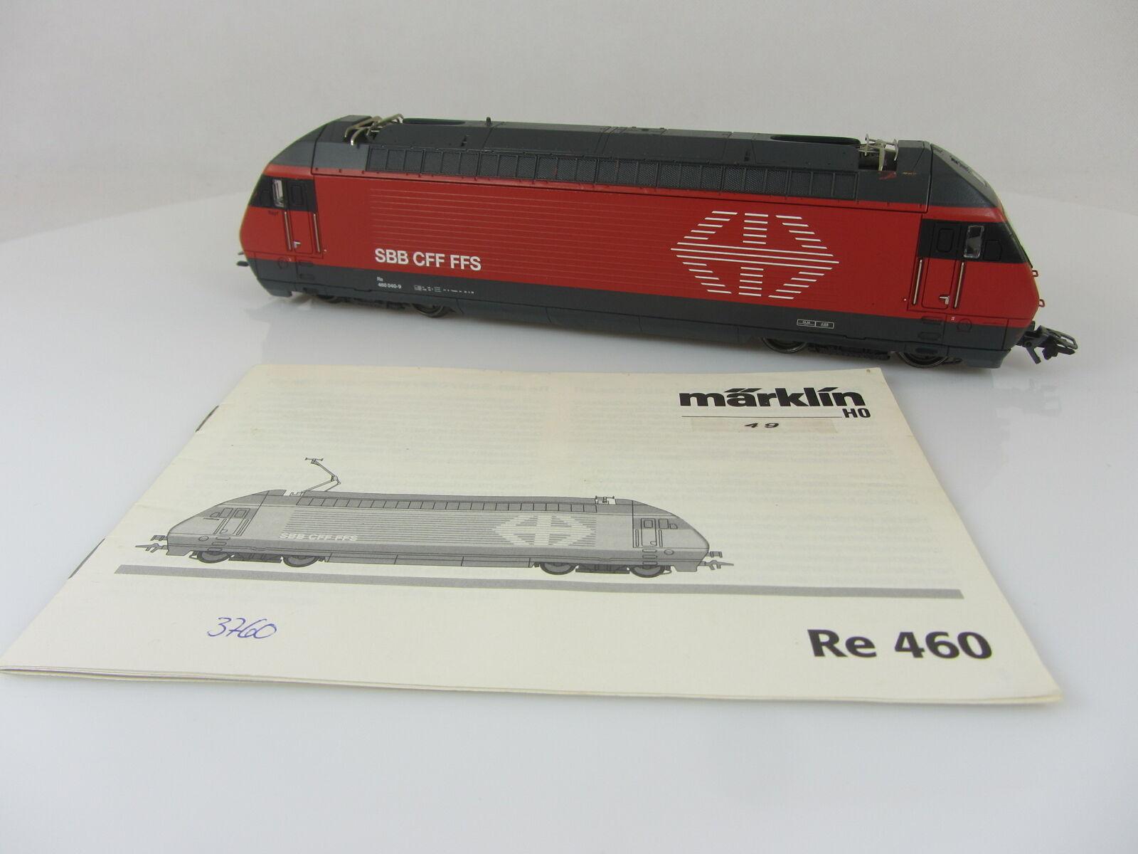 Märklin serie siano re 4 4 serie 460 040-9 DELLE SBB IN ROSSO Svizzera, usati