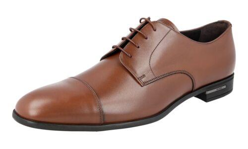 Cap Nocciola 5 Toe 9 Derby 43 5 Nouveaux 2ec122 Prada 44 Luxueux Chaussures XUqfAf