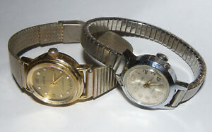Lot of 2 Vintage Manual Wind Watches • Westclox 17Jewels • IMPEX • Both Work!