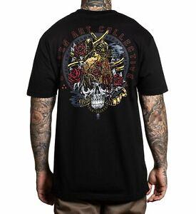 Sullen Pin Up Punk Street Bike Gothic Americana Tattoo Art Mens Tee GARR