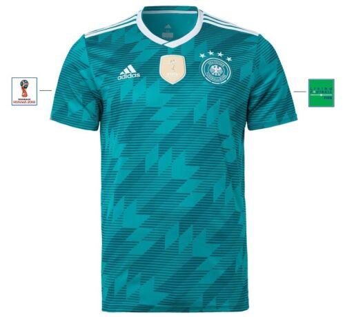 128 bis XXXL Deutschland Germany Sleeve Badge Trikot Adidas DFB WM 2018 Away