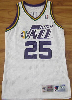 John Crotty Utah Jazz Game Used Worn Jersey Champion Virginia Vintage 42 2 Ebay