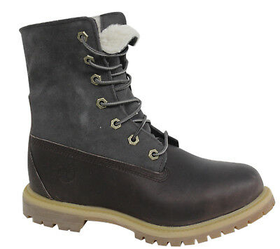 Timberland Authentics Teddy Fleece waterproof Damen Roll Top Boots A18QD D100 | eBay