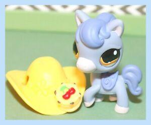 Authentic-Littlest-Pet-Shop-LPS-1114-Purple-Blue-PONY-Horse-Hazel-Eyes