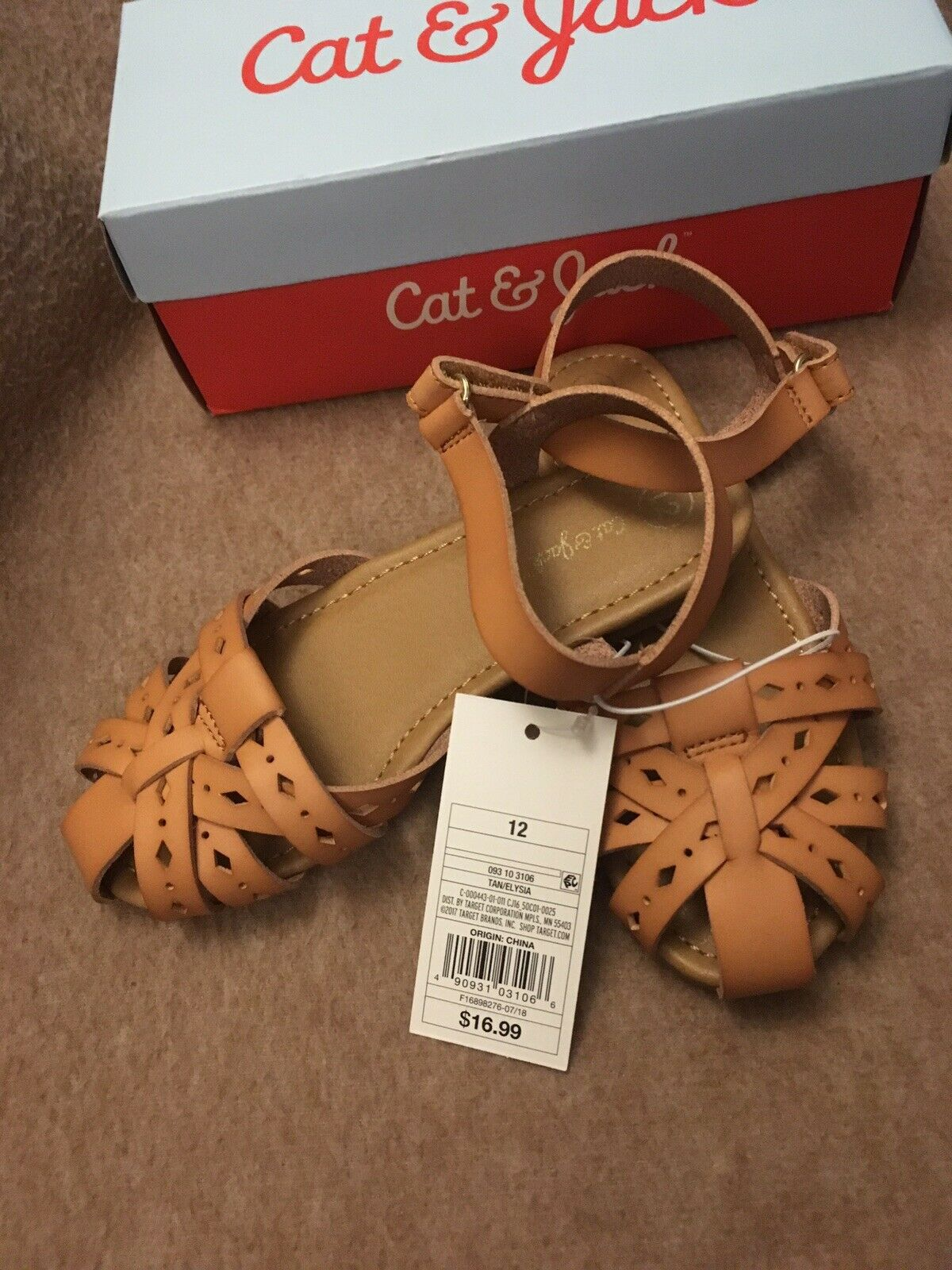 910bd36699be6 NWT and Box Cat & Jack Toddler Girls' Elysia Huarache Sandals from Target