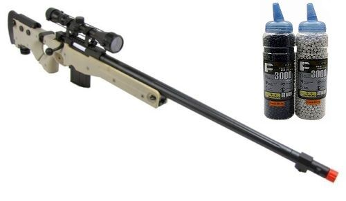 WELL L96 Bolt Action Airsoft Sniper Rifle Scope 6000 BBs