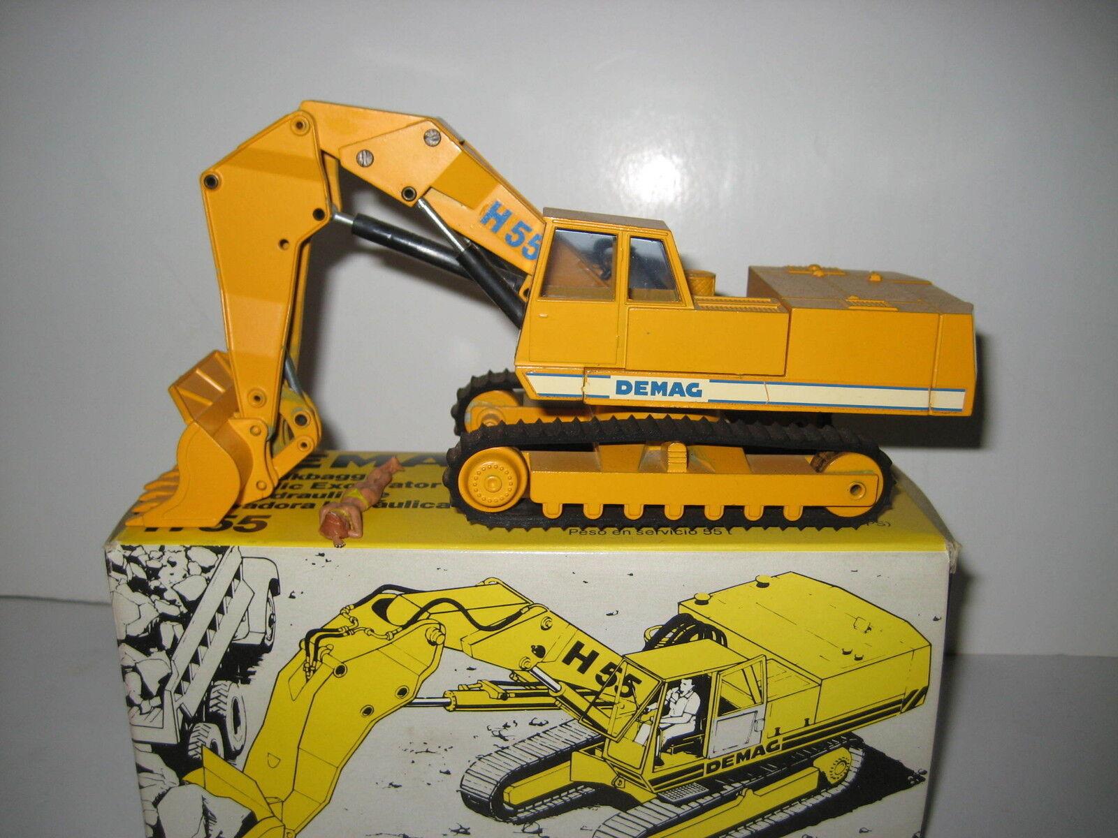DEMAG H 55 Excavateurs hochlöffel vers à soie  113.6 NZG 1 50 neuf dans sa boîte