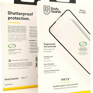 BODYGUARDZ PRTX SYNTHETIC GLASS SCREEN PROTECTOR IPHONE 12 PRO MAX BRAND NEW