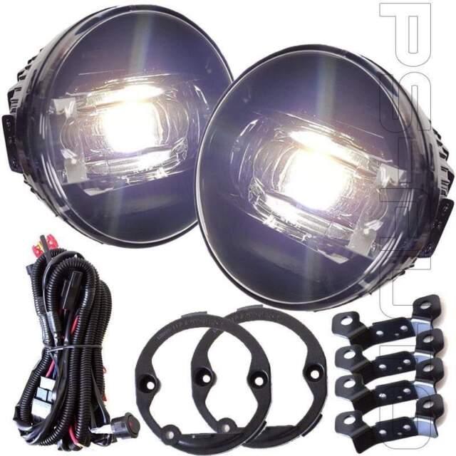 Fit 2010 2011 2012 Acura RDX Clear Lens LED Fog Lights Kit