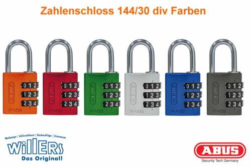 Abus ZahlenschlossVorhangschlossSicherheitsschloss144//30div Farben
