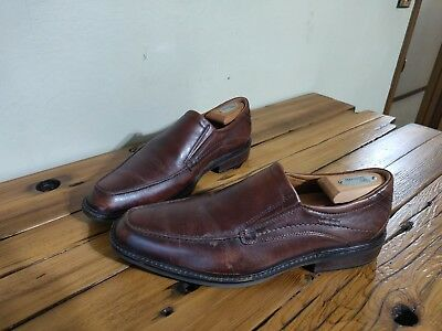 Ecco Genuine Leather Shock Point Brown Slip On Casual Dress Shoes Men's 44 | eBay