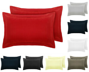 2-x-Oxford-Pillow-Cases-Covers-Polycotton-Easy-Care-100-Percale
