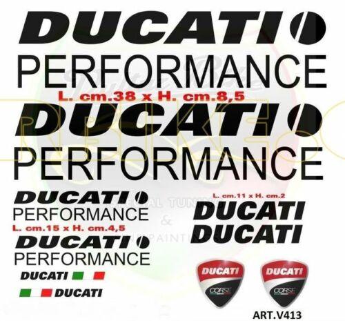 """Pegatina /""""ducati performance negro/"""" para Ducati"""