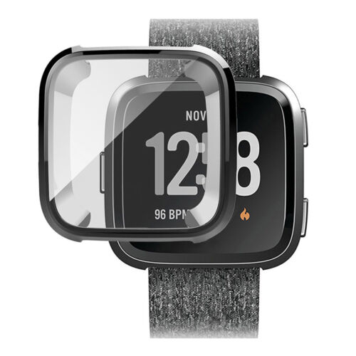 Silicone Protective TPU Shell Case Screen Protector Frame Cover for Fitbit Versa