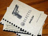 Beretta 96d .40 Cal Pistol Ownwers Manual