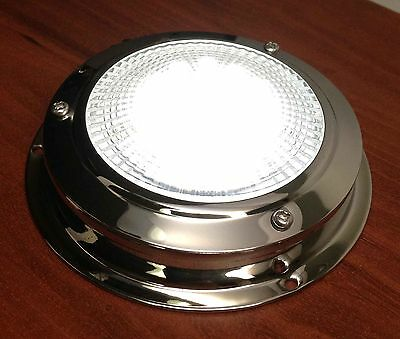 MARINE BOAT TRAILER CAR RV LED CEILING/CABIN/DOME LIGHT SS ACCENT ROCKER SWITCH