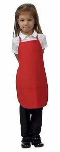 Daystar-Aprons-1-Style-250-Children-039-s-Two-pocket-kids-bib-apron-Made-in-USA
