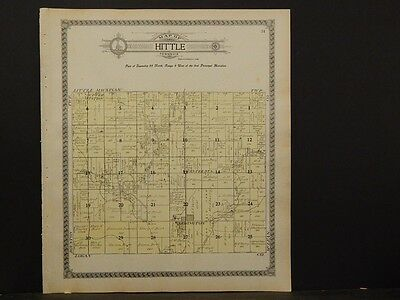 1910 P5#29 Tazewell County Map Hittle Township Humble Illinois
