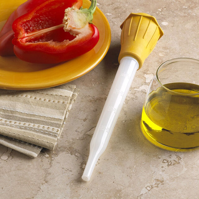 CHICKEN TURKEY MEAT CLEAR LIQUID GRAVY JUICE BASTER TUBE SYRINGE PUMP FOOD A1C7