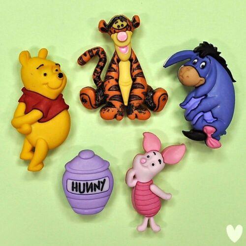 Disney Winnie The Pooh 7729 Vestido para arriba Botones-Tigger lechón Eeyore