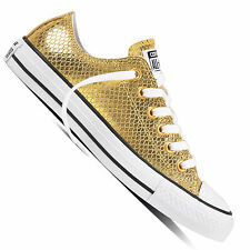Converse Chuck Taylor all Star Ox Women s Sneaker Gym Shoe Metallic Gold  Chucks 53324f02a