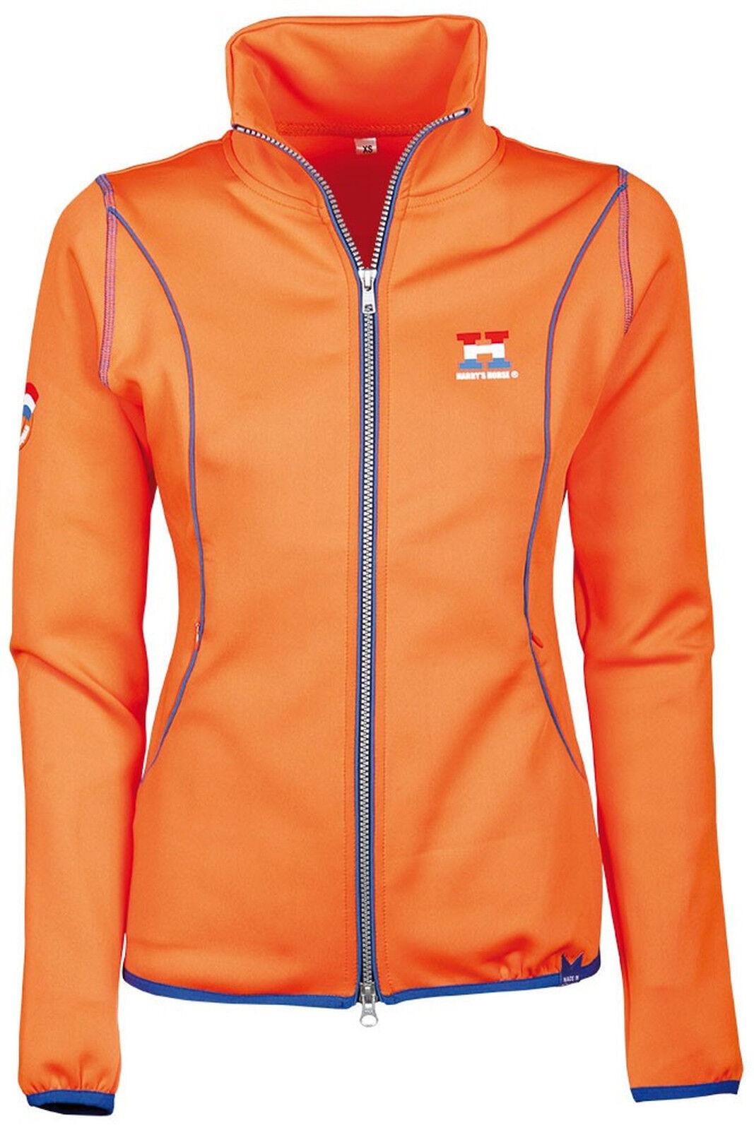 Harry's Horse señora chaqueta Dutch naranja reitjacke cuello alto 2-caminos reißverschl.
